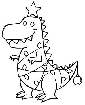 Tree Rex Design Uth18074 From Urbanthreads Com Christmas Coloring Sheets Christmas Coloring Pages Dinosaur Coloring Pages