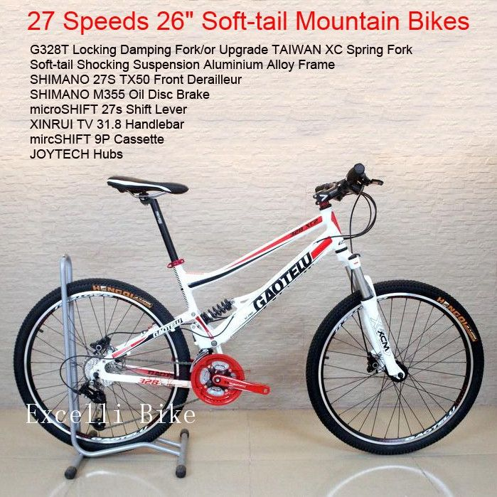 "357.00$  Watch here - http://aliixz.worldwells.pw/go.php?t=32370746112 - ""27 Speeds Soft-tail Mountain Bike 26""""X17"""" off road 27 Gears Bicicleta Shocking Fork Oil Disc Brake Bicicletas Mountainbike26"""