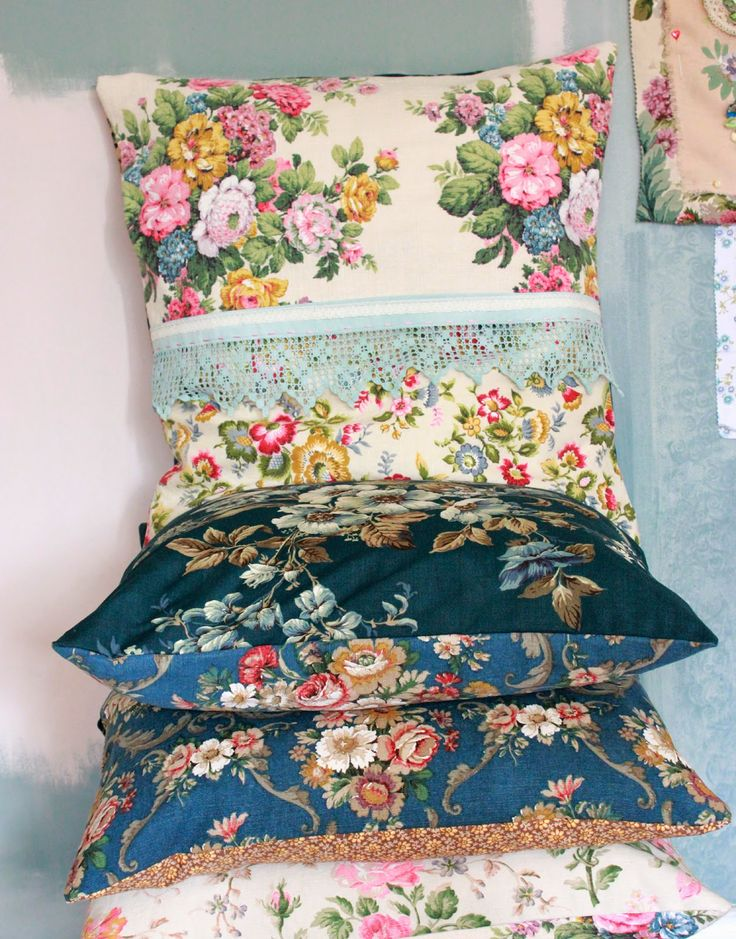 floral love in The Linen Garden - fabrics and haberdashery and home sweet home cushions