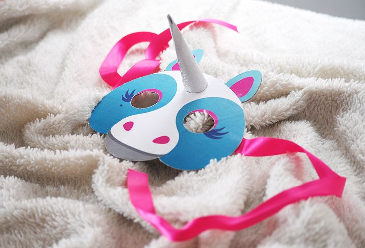 Free Printable Unicorn Mask from Oh Lovely Bows.