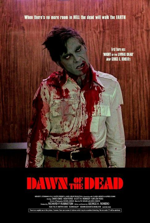 DAWN OF THE DEAD  ★★★★★★ of George A. Romero Following an ever-growing epidemic of zombies that have risen from the dead, two Philadelphia S.W.A.T. team members, a traffic reporter, and his television executive girlfriend seek refuge in a secluded shopping mall.Still one of the best Zombie movies ever: