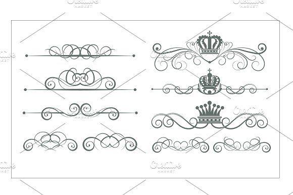 Vintage decorative elements by kio on @creativemarket