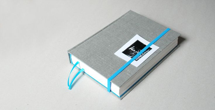 A5 – gray linen notebook A5 with bookmarks – a unique product by Kajet on DaWanda