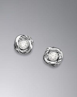 David Yurman Infinity Stud Earrings Diamonds David Yurman! Love his jewelry and all I wear daily! Goes with everything!
