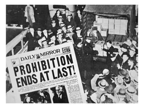 Headline Declaring the End of Prohibition, 6th December, 1933 Giclee Print at Art.com