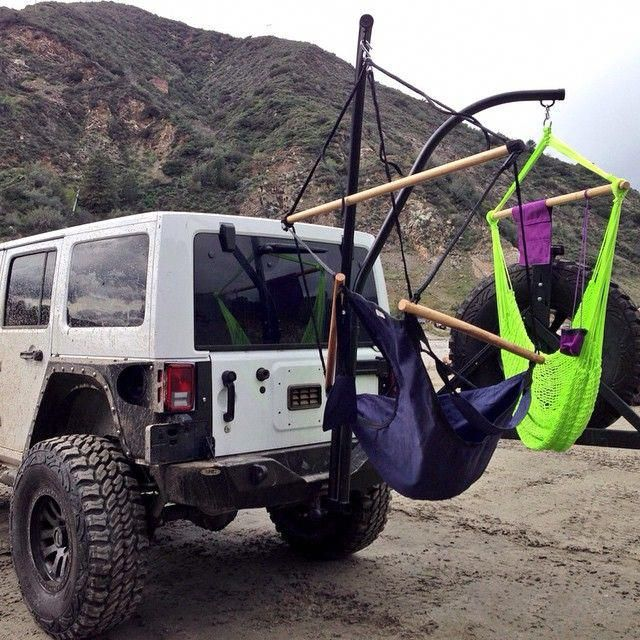 Hanging Hammock From Hitch Receiver A Must Have Jeep Hammock Car Tent Camping Jeep