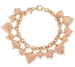 Love is in the air with this gorgeous charm bracelet!
