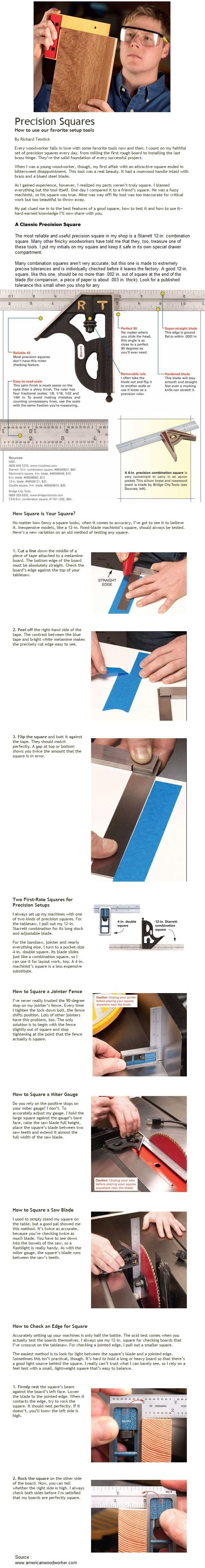 Precision Squares   WoodworkerZ.com