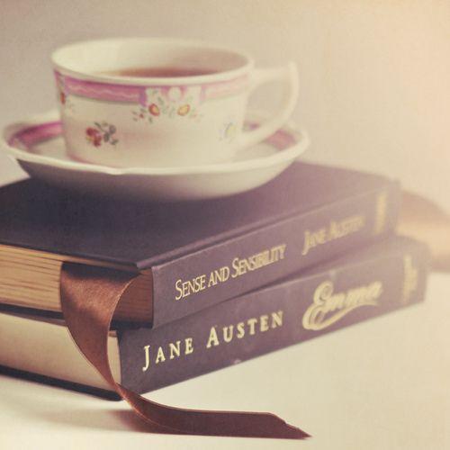 tea, emma and Sense and Sensibility. Only Austen.