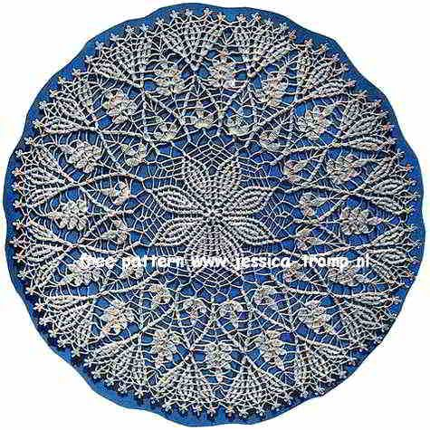 Cluster Stitch doily free vintage crochet doilies patterns