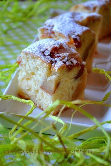 Kopalnia Smaków...- puszyste ciasto ucierane z owocami