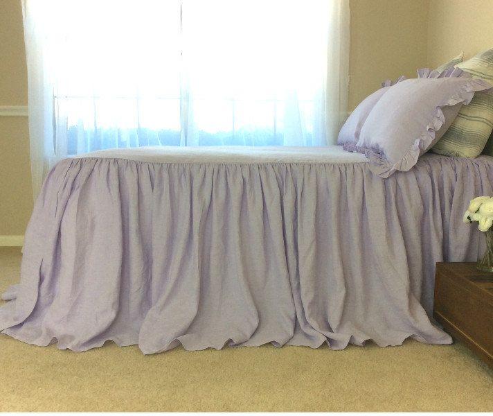 New to CustomLinensHandmade on Etsy: Bedspread Lavender linen bedspread purple bedding purple bed cover shabby chic bedding queen bedspread king bedspread (237.00 USD)