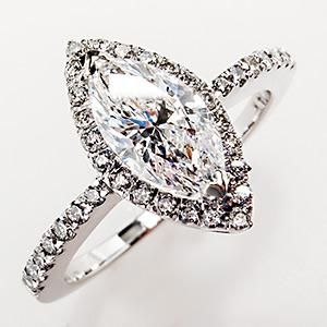 VVS F Marquise Diamond Halo Engagement Ring 14K White Gold... preferably 2karats, E, IF