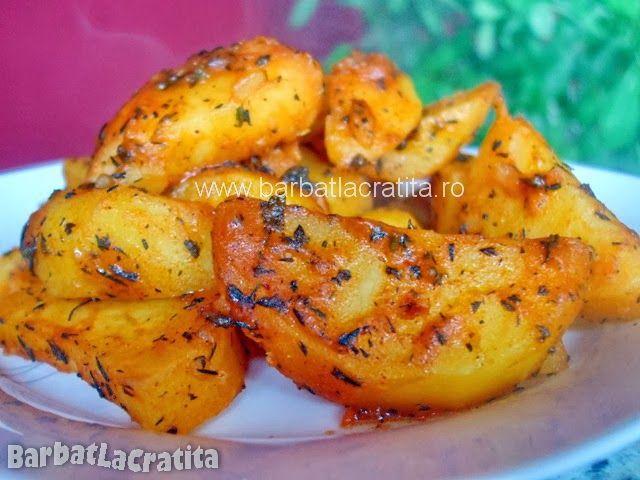 Cartofi cu cimbru la cuptor