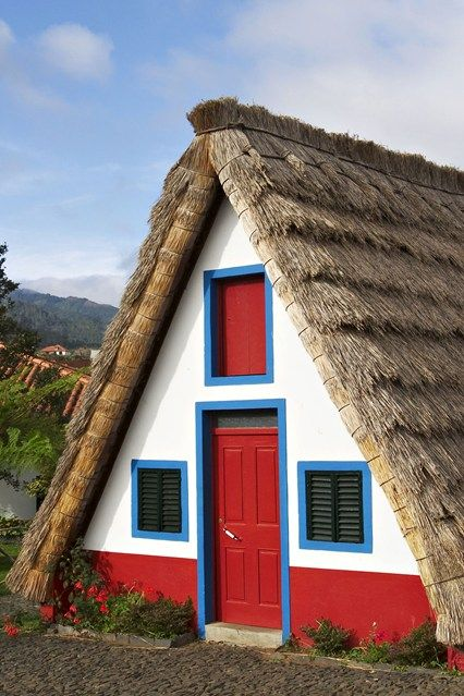 Madeira Island - Casa de Colmo, a traditional Madeira-styled thatched house in Santana.