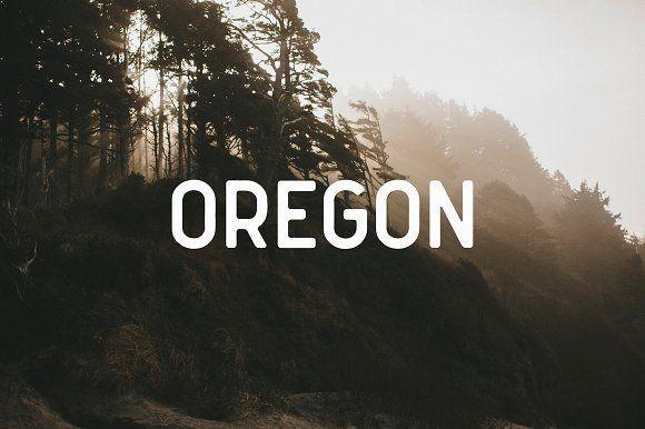 Oregon Font by Mark van Leeuwen on @creativemarket