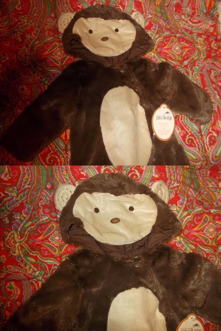 Kids Costumes: Pottery Barn Kids Baby Monkey Costume, 6-12 Months, New BUY IT NOW ONLY: $79.96