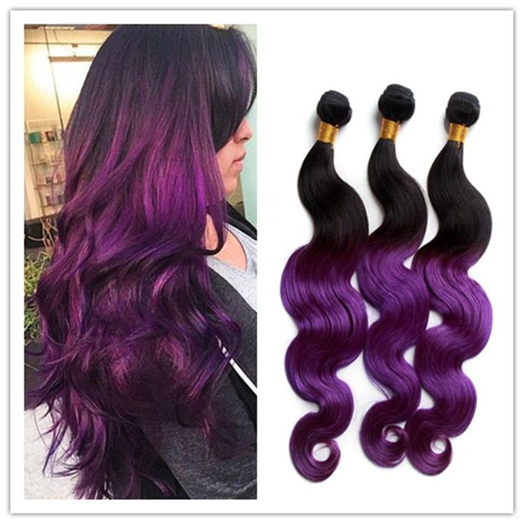 25 beautiful purple hair extensions ideas on pinterest colored 8a peruvian ombre purple hair bundles hair weaving 1b purple two tone body wave peruvian virgin human hair extensions 300gbundle free shipp pmusecretfo Images