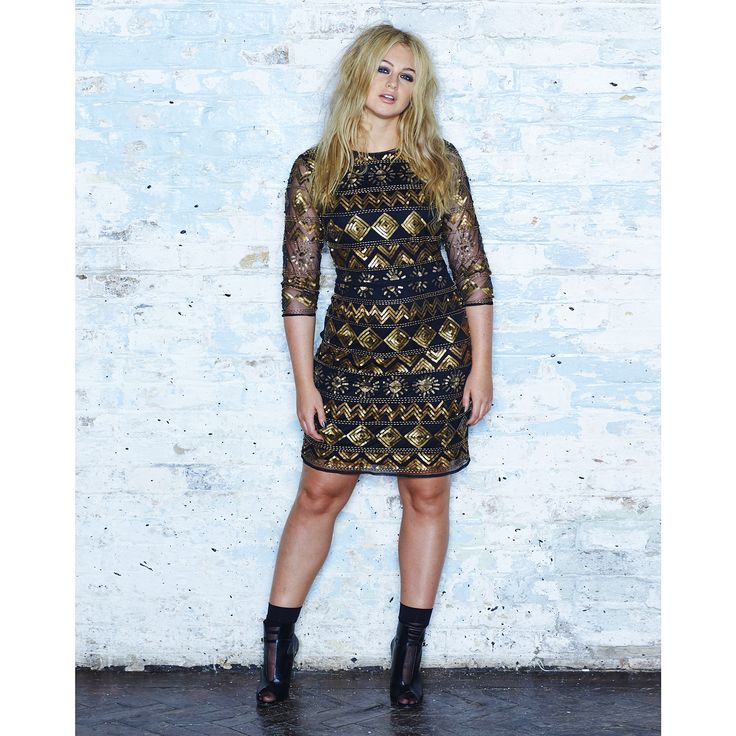 Simply Be Gold Sequin Dress | SimplyBe EU Site