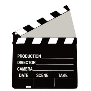 """Film Clapper Cardboard Standup (42"""" x 33"""")"""