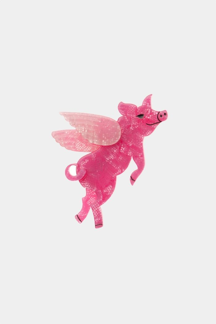 pigs can fly brooch by erstwilder