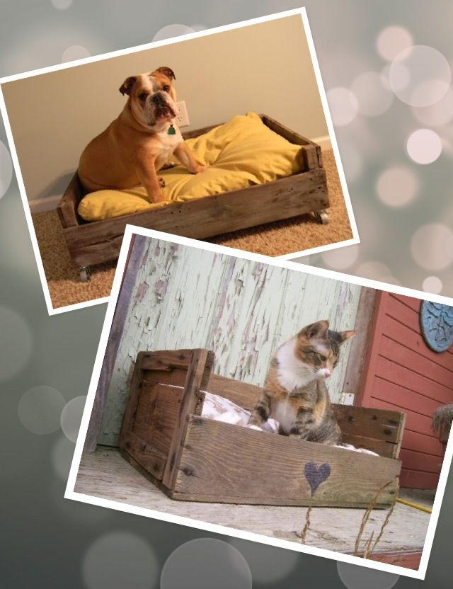 Pallets projects !! Yes a bed for Zoe & Bella for the garage when they come in from the kennel!