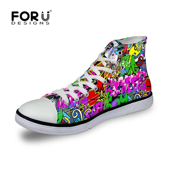 FOR U DESIGNS FOR U DESIGNS Cute Giraffe Animal Print High Top Fashion Sneaker Trainers Trend Shoes for Women Lace Up US 7 Cheap Sale