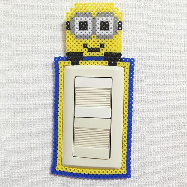 Minion light switch frame perler beads by kandi_addict_tokyo