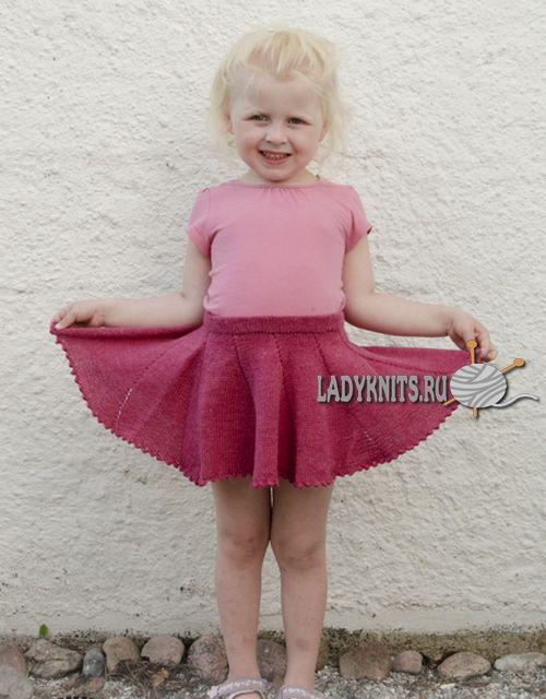 вязаная спицами юбка сладкий реверанс для девочки от 2 до 10 лет