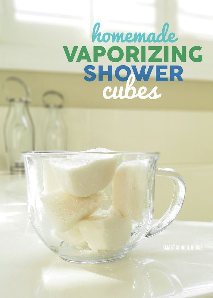 Homemade Vaporizing Shower Cubes. A perfect DIY gift idea.