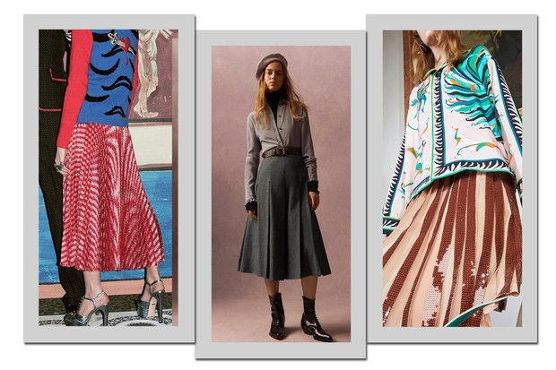 Trends Skirts via Vogue Brazil photos by Gucci, Philosophy, Emilio Pucci