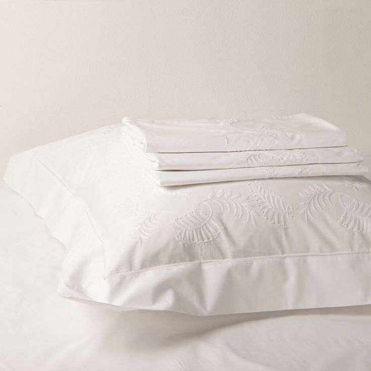 Embroidered Leaves Bed Linen | ZARA HOME United Kingdom