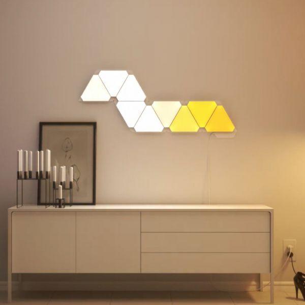Nanoleaf Aurora Starter Kit 9er Pack Leuchte Interieurdesign Interieur Lampe Inneneinrichtung Wohnzimmerleuchte Wohnzimmer Leuchte Inneneinrichtung Led