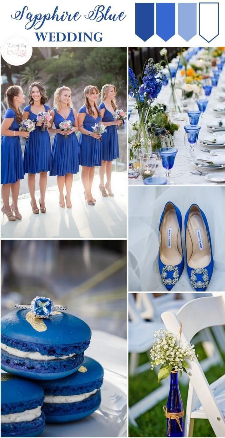 Sapphire Blue Wedding Inspiration Knotsvilla Wedding Ideas Canada Wedding Blog Royal Blue Wedding Sapphire Blue Weddings Cobalt Blue Weddings