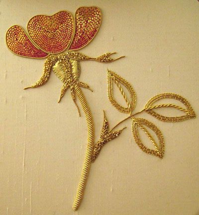 Goldwork rose.