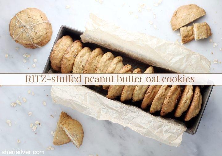 ritz stuffed peanut butter oat cookies #ad