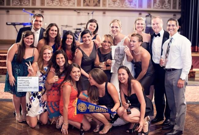 Check out this photo of the Maura Comerford '08 wedding. Also pictured with John Carroll are Madison Snow '08, Amanda Shannon '08, Meghan Danahy '08, Bess Devine '07, Meghan (Crotty) Quinn '07, Clare Walsh '16, Gina Ross '08, Caitlin Donohue '08, Meghan Donohue '08, Christine Daley, Mary Catherine Comerford '04, John Daley '02, Frances Quattrocki '04, Maura (Comerford) Devlin '08, Michelle Comerford '01, Jim Comerford '01 and Paul Smaldone '00. FUN wedding.
