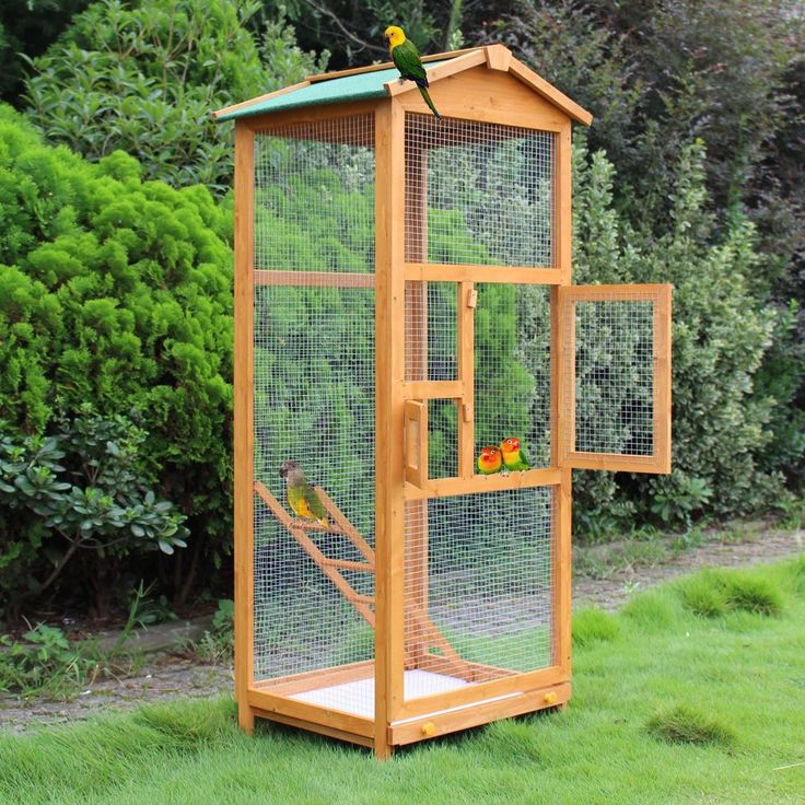 Wooden Large Bird Cage 65″ Pet Play Covered House Ladder Feeder Stand Outdoor | Productos para mascotas, Aves, Jaulas | eBay! #parrotcagecover