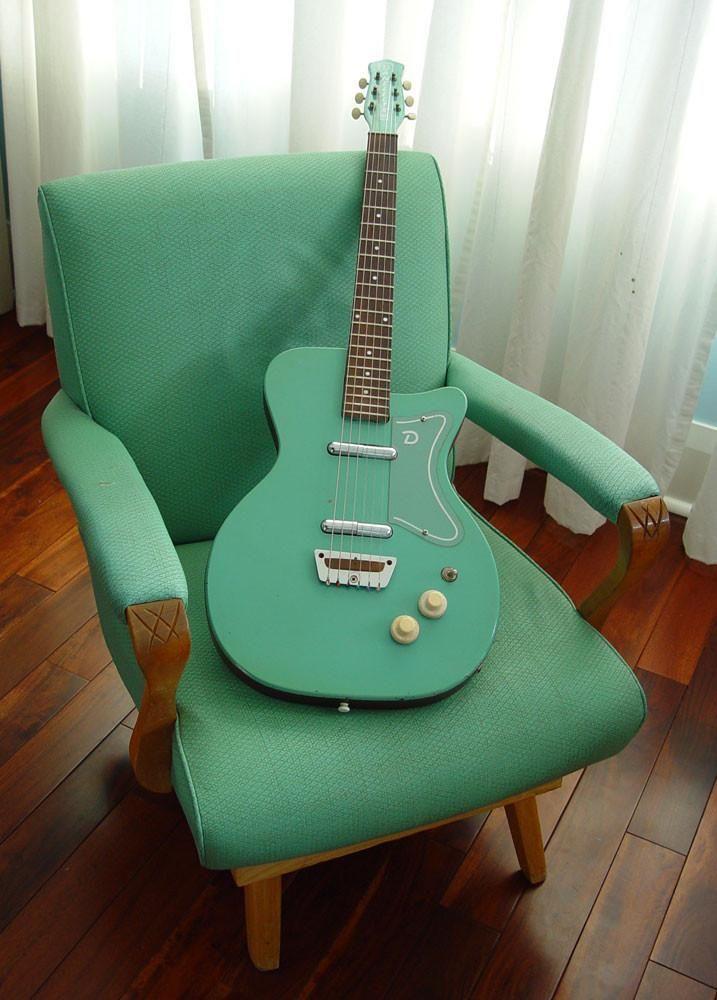 1956 Danelectro U2 Rare Aqua Finish #vintageguitars