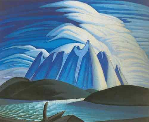 Lawren Harris,  Lake and Mountains Fine Art Reproduction Oil Painting