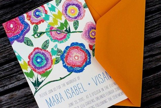 Wildflower Wedding Invitations from An Lim | Design and Photo Credits: Vanessa An Lim