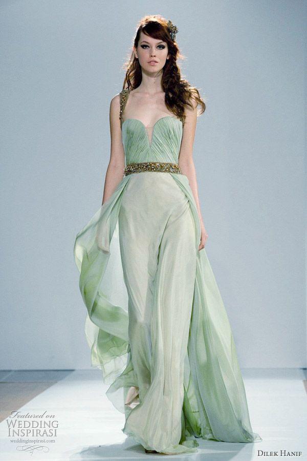 Dilek Hanif: Mint Green, Green Long Dresses, Bridesmaid Dresses, Gowns, Prom Ideas, Dilekhanif, Hautecouture, Haute Couture, Dilek Hanif