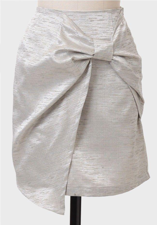 Holiday Bow Jacquard Skirt