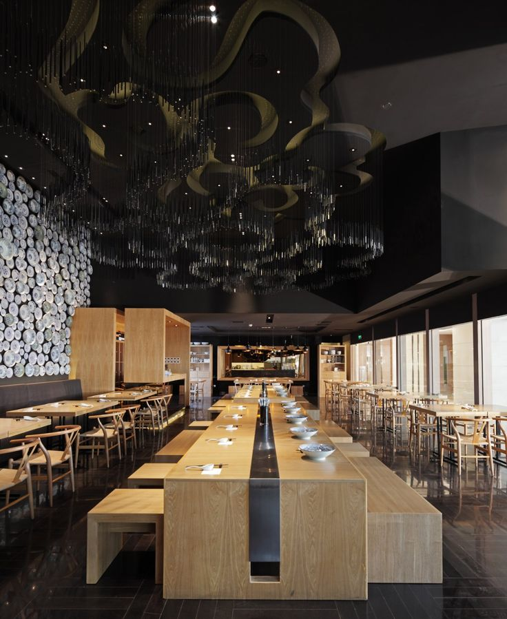 Ideas Of Communal Table. Golucci International Design Designed The Taiwan  Noodle House Restaurant Interior In Beijing, China.