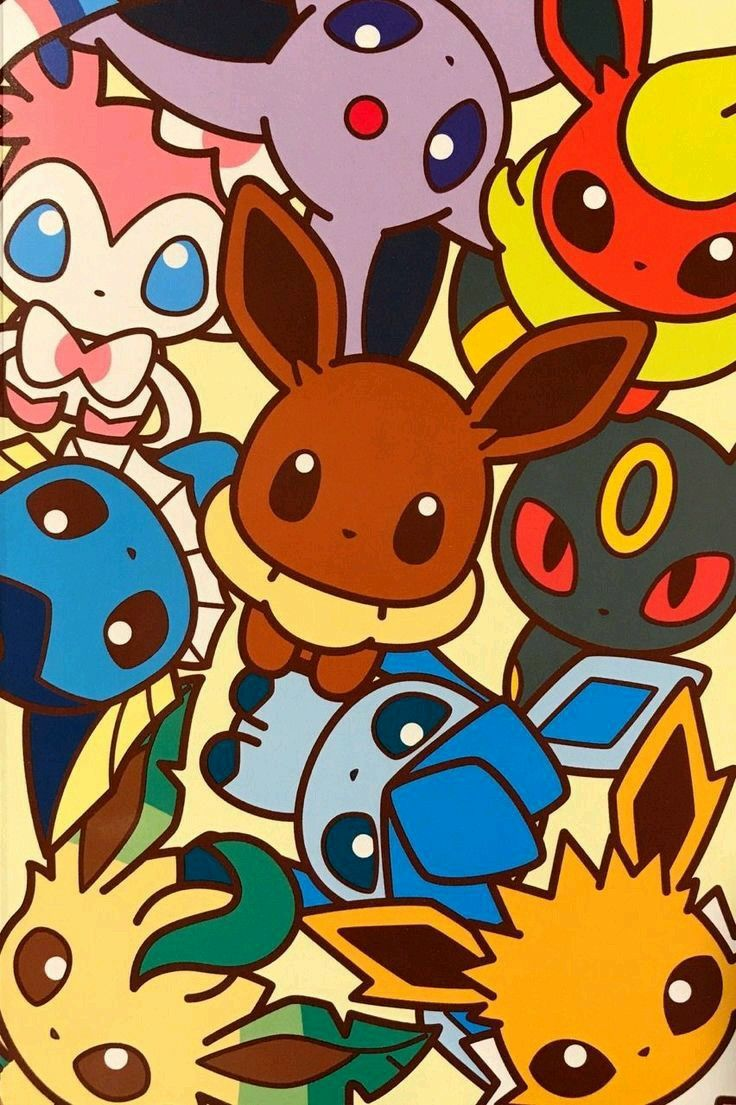 Cute Eeveelutions Collage Pokemon Cute Pokemon Wallpaper