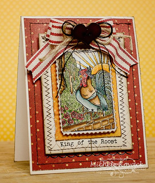 Love the Rooster! It is part of Crafty Secrets Farm Fresh stamp set!