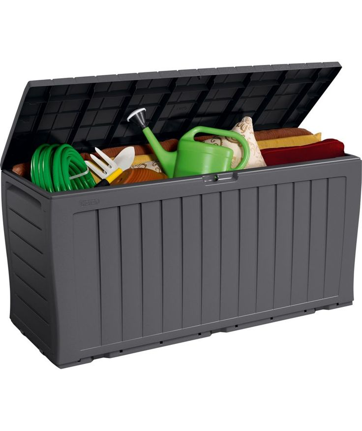 Buy Keter Wood Effect Plastic Garden Storage Box - Grey at Argos.co.uk - Your Online Shop for Garden storage boxes and cupboards.