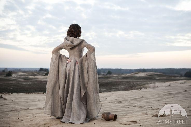 """Kleid """"Die Pilgerin"""" aus Leinen"""