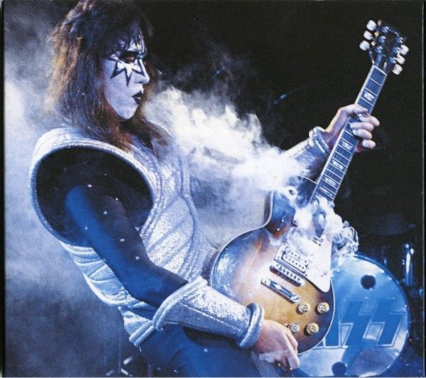 Ace Frehley (KISS). I saw the Farewell Tour in the summer of 2000. That concert will probably always be my favorite. Ace made me want to start playing guitar.
