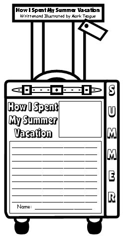 Read All About My Summer Break **First Week of School Writing Activity**
